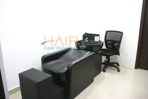 Advanced hair clinic preperation and spa room