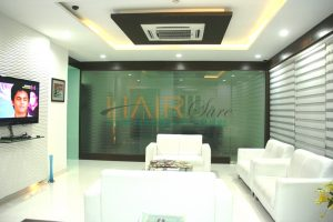 Reception of hair clinic in hyderabad