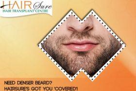 Need Denser Beard? HairSure's got you 'Covered'!