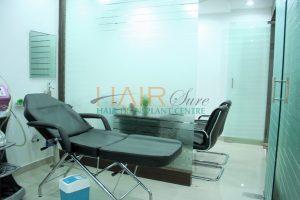advanced hair clinic laser treatment room
