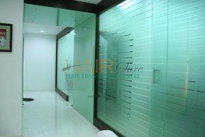lobby of hair transplant clinic in hyderabad