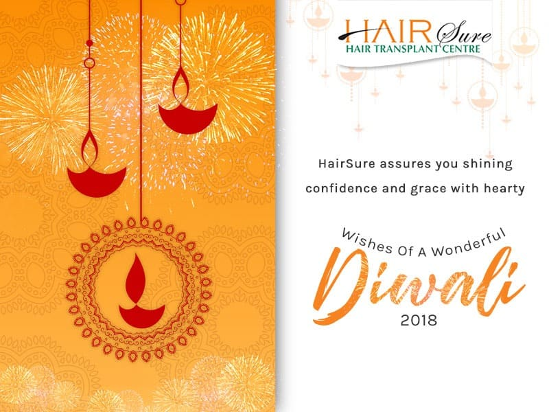 HairSure Assures You Shining Confidence And Grace With Hearty Wishes Of A Wonderful Diwali 2018