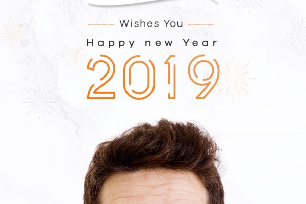 New year wishes by Hair sure clinic, One of the best clinic for Hair transplantation in Hyderabad