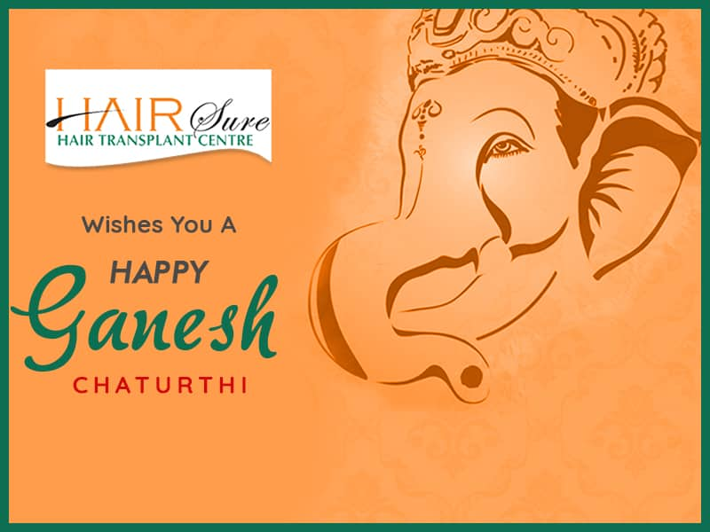 Ganesh chaturthi wishes by Hair sure clinic, one of the best Hair transpant centre in Hyderabad