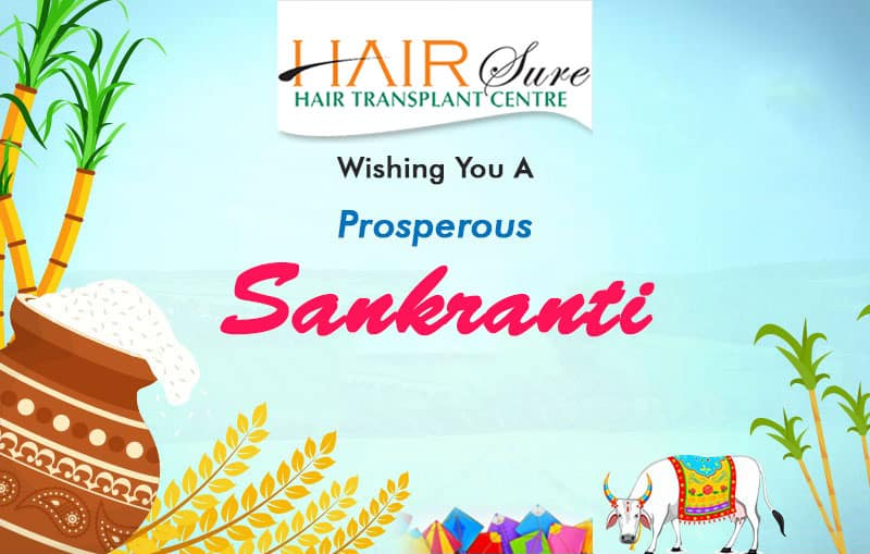 Sankranthi wishes by Hair sure clinic Hyderabad, Hair transplant doctors near me