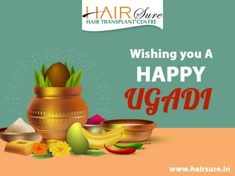 Ugadi wishes by Hair sure clinic, Hair surgeons near me
