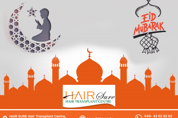 Eid Mubarak wishes by Hair sure clinic, One of the best Hair transplantation centre in Hyderabad