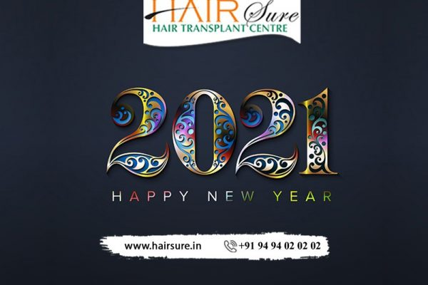 Happy New Year! May God grace your life with His generosity and blessings! by Hair Sure, One of the best Hair Restoration Clinics in Hyderabad