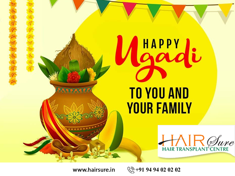 Happy Ugadi wishes by Hair Sure Clinic, One of the Hair treatment centers in Hyderabad