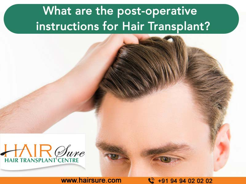 Consult Doctor for pre and post-operative instructions after hair transplant at Hair Sure, top hair restoration clinic near Habsiguda